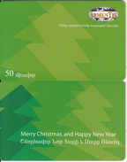 ARMENIA - Happy New Year 1/Christmas Tree, ArmenTel Telecard 50 Units, Tirage 20000, Sample(no Chip, No CN)