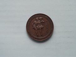 R. LAMB LONGJUMP 1930 - ILFORD Schools' Athletic Ass. - ISSA ( Bronskleur - 14.8 Gr. ) ( Details Zie Foto ) ! - Royaume-Uni