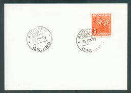N°43B Sur FDC Obl. ORDINO ANDORRE   - 11836 - Andorre Espagnol