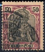 GERMAN REICH 1900 50pf REICHSPOST  Used Lot#22