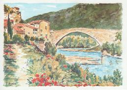 NYONS: Paysage De Haute Provence, Aquarelle De J. Suain - Nyons