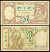 Djibouti 20 Francs 1928-38 P7 VF - Djibouti