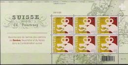 2015 Schweiz  Mi. 2392-4**MNH 200. Jahrestag Der Aufnahme Von Genf, Neuenburg Und Wallis Als Vollkantone
