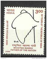 INDIA, 2000, 50th Anniversary Of Republic, (1st Issue), Tribute To Mahatma Gandhi,   MNH, (**)