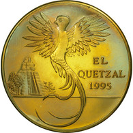 Guatemala, 10 Quetzales, 1995, Tower, SPL, Laiton, KM:2a.2 - Guatemala