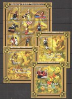 VV297 2001 MOCAMBIQUE-CORREIOS SPORT OLYMPICS SYDNEY 2000 VENCEDORES 3BL+1KB MNH