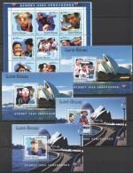 VV335 2001 GUINE-BISSAU SPORT TABLE TENNIS SYDNEY 2000 VENCENDORES 1KB+4BL MNH