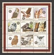 VV351 2001 GUINE-BISSAU FAUNA BIRDS OWLS 1KB MNH