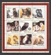 VV352 2001 GUINE-BISSAU FAUNA BIRDS OWLS 1KB MNH