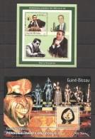 VV374 2001 GUINEE-BISSAU CHESS GARRY KASPAROV 2BL MNH