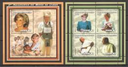 VV386 2002 MOCAMBIQUE-CORREIOS FAMOUS PEOPLEDIANA JOHN PAUL 2 1KB+1BL MNH