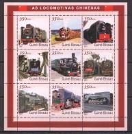 VV392 2001 GUINE-BISSAU TRAINS AS LOCOMOTIVAS CHINESAS 1KB MNH