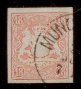 (0007)  Bayern 1867, Freimarke Staatswappen Auf Sockel, Mi. # 19 Mit Einkreisstempel  MÜNCHEN. - Bavière