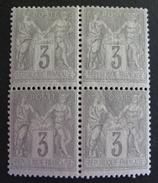 LOT R542/164 - SAGE Type II N°87 - BLOC DE 4 TIMBRES - NEUFS **/* - Cote : 50,00 €