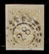 (0010)  Bayern 1867, Freimarke Staatswappen Auf Sockel, Mi. # 17 Mit Offenem Mühlradstempel 28. - Bavière