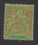 Indo-China, Scott #12, Mint No Gum, Navigation And Commerce, Issued 1892 - Indocina (1889-1945)