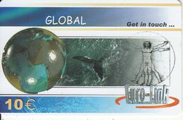 GREECE - Whale, Global, Euro-Link Prepaid Card 15 Euro, Sample