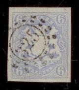 (0014)   Bayern 1867, Freimarke Staatswappen Auf Sockel, Mi. # 16 Mit Offenem Mühlradstempel 325. - Bavière