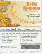GREECE - Pizza Bella Romana, Starcom Promotion Prepaid Card, Tirage 1000, Exp.date 31/05/02, Sample