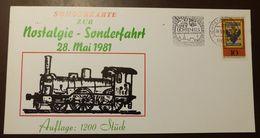 Bund  Eisenbahn Lichtenfels Sonderfahrt 1981   #A55