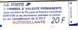 2 Carnets N° 1505 Et 1506 A, Marianne De Briat, Avec 2 Bandes De Timbres Et Une Vignette, Neufs - Carnets