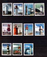 2003 -2016 Latvia - Lighthouses Of Latvia /Leuchttürme V. Lettland - All To Date Issued 11 V  -paper -MNH** Zz17