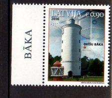 2016 Latvia - Lighthouses Of Latvia - Ovisu Lighthouse - 1v Paper With Sheetlet Tab - MNH** Zz17