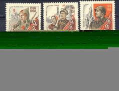 USSR 1958, Mi 2160-65** - 40th Anniversary Of Komsomol.