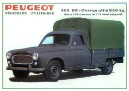 Véhicules Utilitaires - Peugeot 403 - B 8 - Cartes Postales