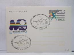FBN,STORIA POSTALE,LETTERA,MANIFESTAZIONI,ANNULLI,F.D.C.PRIMO GIORNO,ITALIA,AVELLINO,1978,VIAGGIATA,FIRST DAY