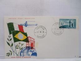 FBN,STORIA POSTALE,LETTERA,MANIFESTAZIONI,ANNULLI,F.D.C.PRIMO GIORNO,ITALIA,NAPOLI,1958,VIAGGIATA,FIRST DAY