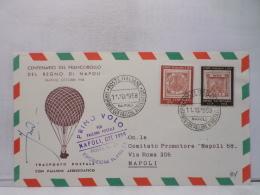 FBN,STORIA POSTALE,CARTOLINA,MANIFESTAZIONI,ANNULLI,F.D.C.PRIMO GIORNO,ITALIA,NAPOLI,1958,VIAGGIATA,FIRST DAY