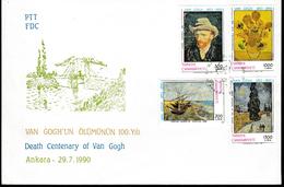 FDC-006 TURKEY DEATH CENTENARY OF VAN GOGH F.D.C.