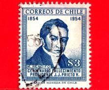 CILE  - Usato - 1955 - Manuel Rengifo - 100 Anni Della Morte Del Presidente Joaquin Prieto - 3
