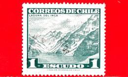 CILE  - Usato - 1968 - Laguna Del Inca - Montagne - Paesaggi - 1