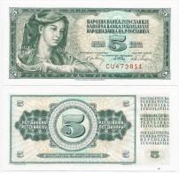 Yugoslavia 5 Dinara 1968. UNC  CU Serial - Yougoslavie