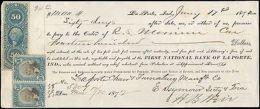 1872 LA PORTE INDIANA MULTI REVENUES ON CHECK - Segnatasse
