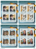 S. TOME & PRINCIPE 2017 - Charles Darwin 4 M/S. Official Issue