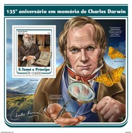 S. TOME & PRINCIPE 2017 - Charles Darwin S/S. Official Issue