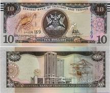 TRINIDAD & TOBAGO       10 Dollars       P-55[b]      2006 (2017)     UNC [ Sign. Hilaire ] - Trindad & Tobago