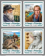 S. TOME & PRINCIPE 2017 - Charles Darwin, 4v. Official Issue
