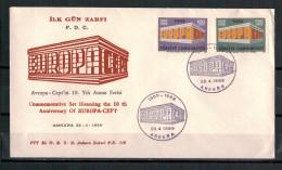 "Türkei, FDC ""Europa"" MiNr. 2124 - 2125 ESSt Ankara 28.04.1969"