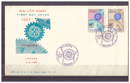 Türkei, FDC Europa MiNr. 2044 - 2045 ESSt Ankara 02.05.1967