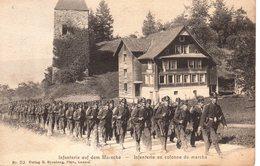 Infanterie Auf Dem Marsche - Infanterie En Colonne De Marche / 1909 - Manovre