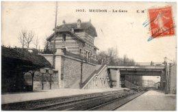 92 MEUDON - La Gare      (Recto/Verso) - Meudon