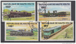 Lokomotiven Trains Treinen Serie Haute-Volta 1984 Oblitéré - Used - Gebruikt