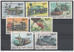 Lokomotiven Trains Serie Guiné-Bissau 1984 Oblitéré - Used - Gebruikt