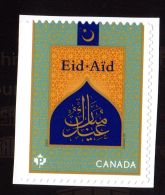 CANADA 2017, EID AID SINGLE,  Two Of The Celebrations By Muslins  Worldwide Mnh 2998 - Carnets