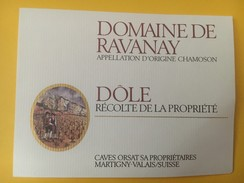 4244 - Dôle Domaine De Ravanay Valais Suisse - Etiquettes