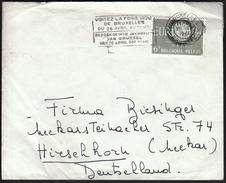 Belgium Bruxelles 1961 / Visitez La Foire Internationale De Bruxelles / International Fair / Machine Stamp - Expositions Universelles